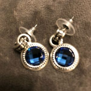 Silver and gemstone earrings